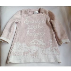 12M SAVANNAH Girls dress Sweater Blouse w stains